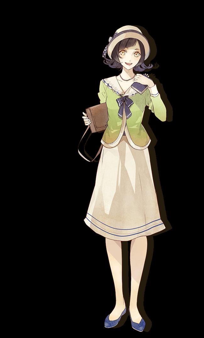 柾小瑠璃 マサキコルリ cv 高橋未奈美 主人公の幼馴染で 女学校時代の先輩 帝都新報 の新聞記者見習いとして働くモダン ガール 家を出た主人公のことをいろいろと気づかってくれる かわいいアニメガール ニルアドミラリ アニメの女の子