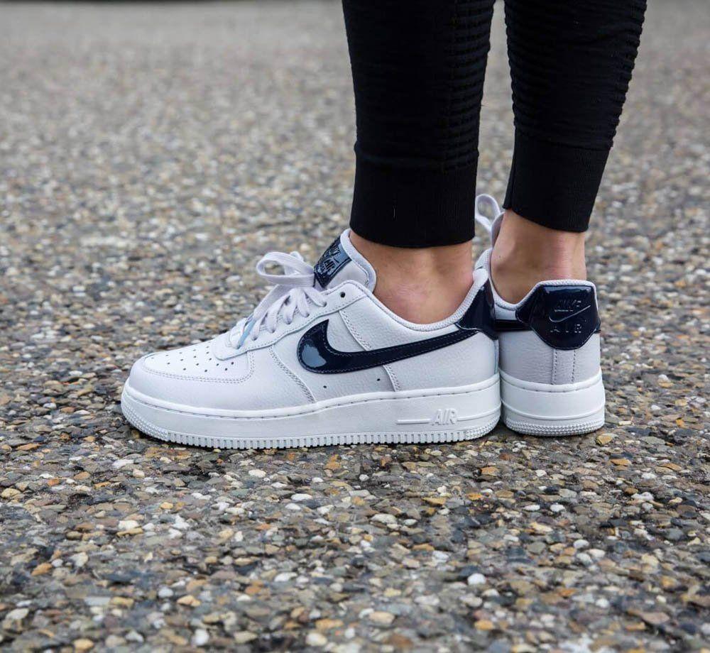 Nike af1 07 Low White Grey Obsidian on feet  593faccf7