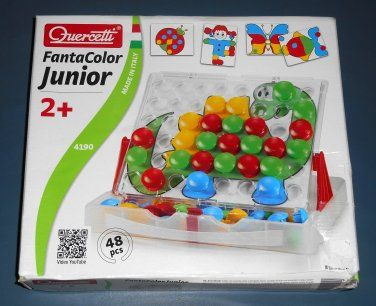 Quercetti FantaColor Junior Jr 4190 Intelligent Toys Italy Complete Set EUC $13