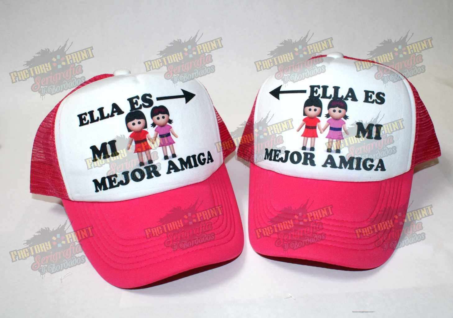 Gorras estampadas de Mejores Amigas personalizadas planas y 56bb4351b2f