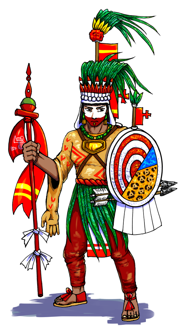 Moctezuma II who dresses as Xipe Totec by nosuku-k on DeviantArt
