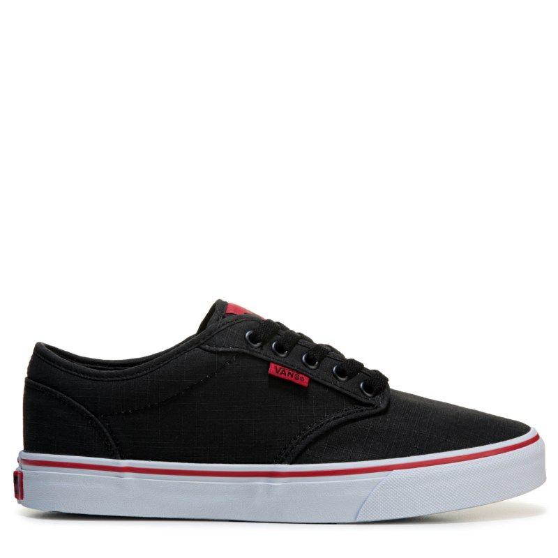 8d116f5399c9a8 Vans Men s Atwood Skate Shoes (Black Red)
