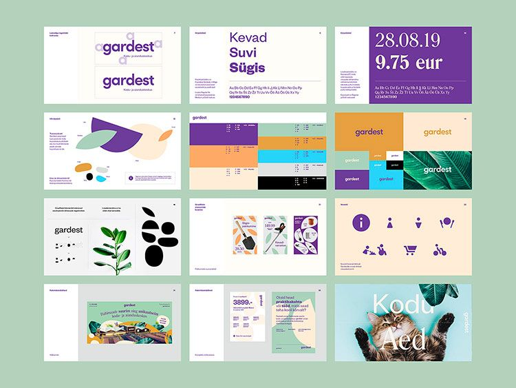 Branding Graphic Design For Home And Gardening Centre Heydesign Com Brand Guidelines Brand Book Brand Manual