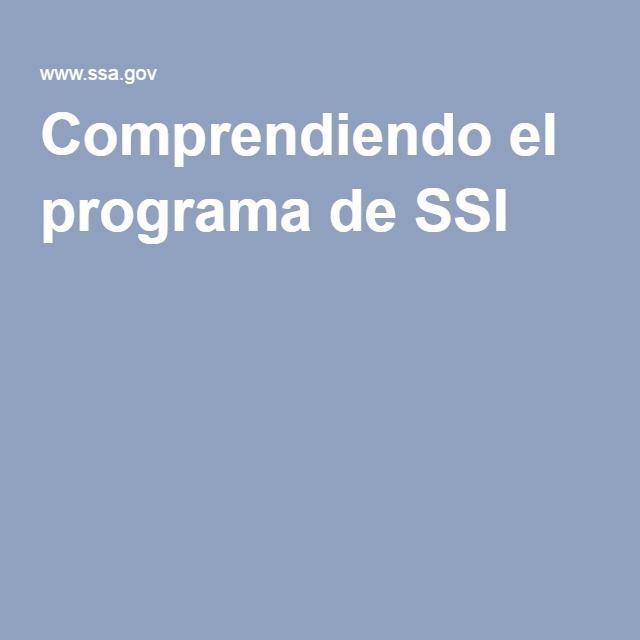 http://www.meganmedicalpt.com/index.html Comprendiendo el programa de SSI
