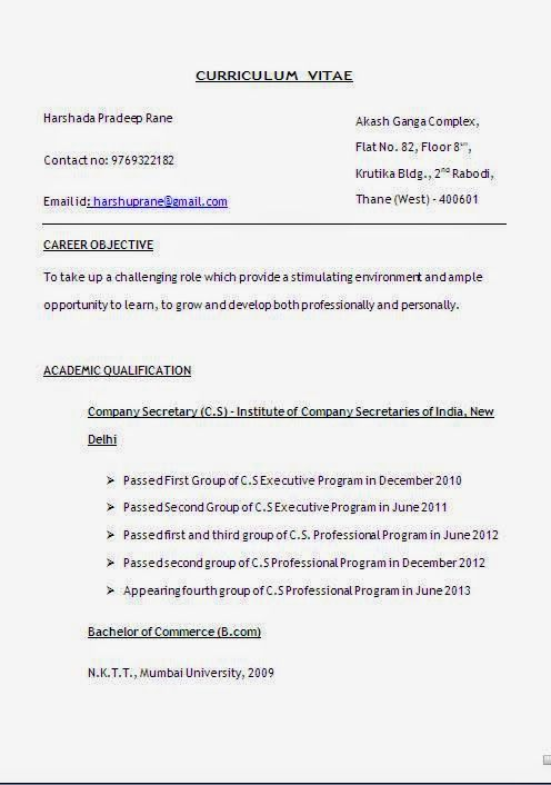 Curriculum Vitae Wiki Sample Template Example Ofexcellent