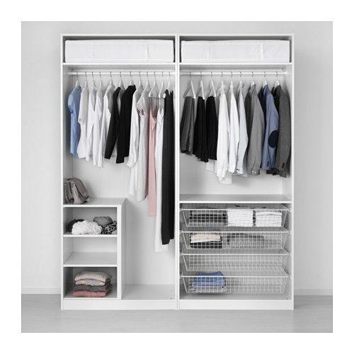 PAX Garderobekast - 200x60x236 cm, standaardscharnier - IKEA ...