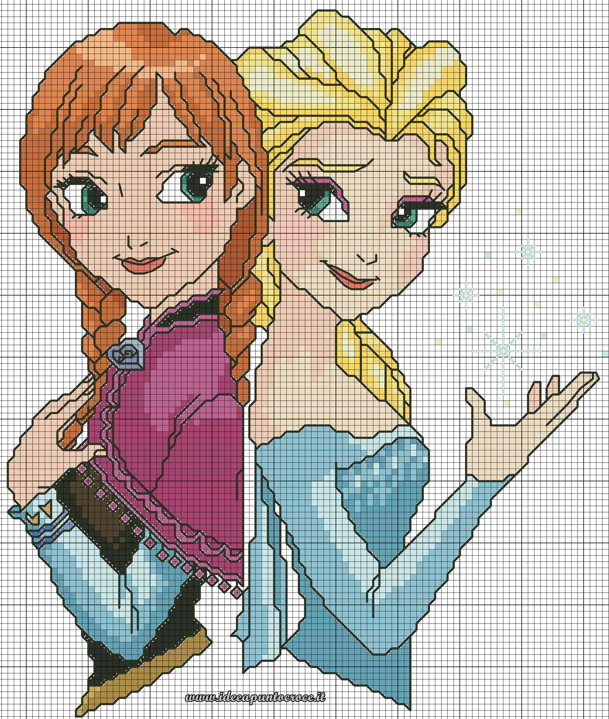 Anna Frozen BELLISSIMO Punto Croce Kit