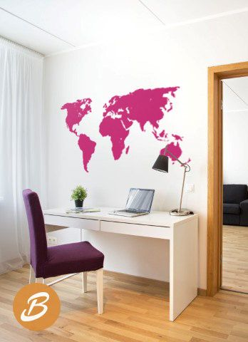 World map decal for wall world map sticker for office large wall world map decal for wall world map sticker for by theameliadesigns gumiabroncs Gallery