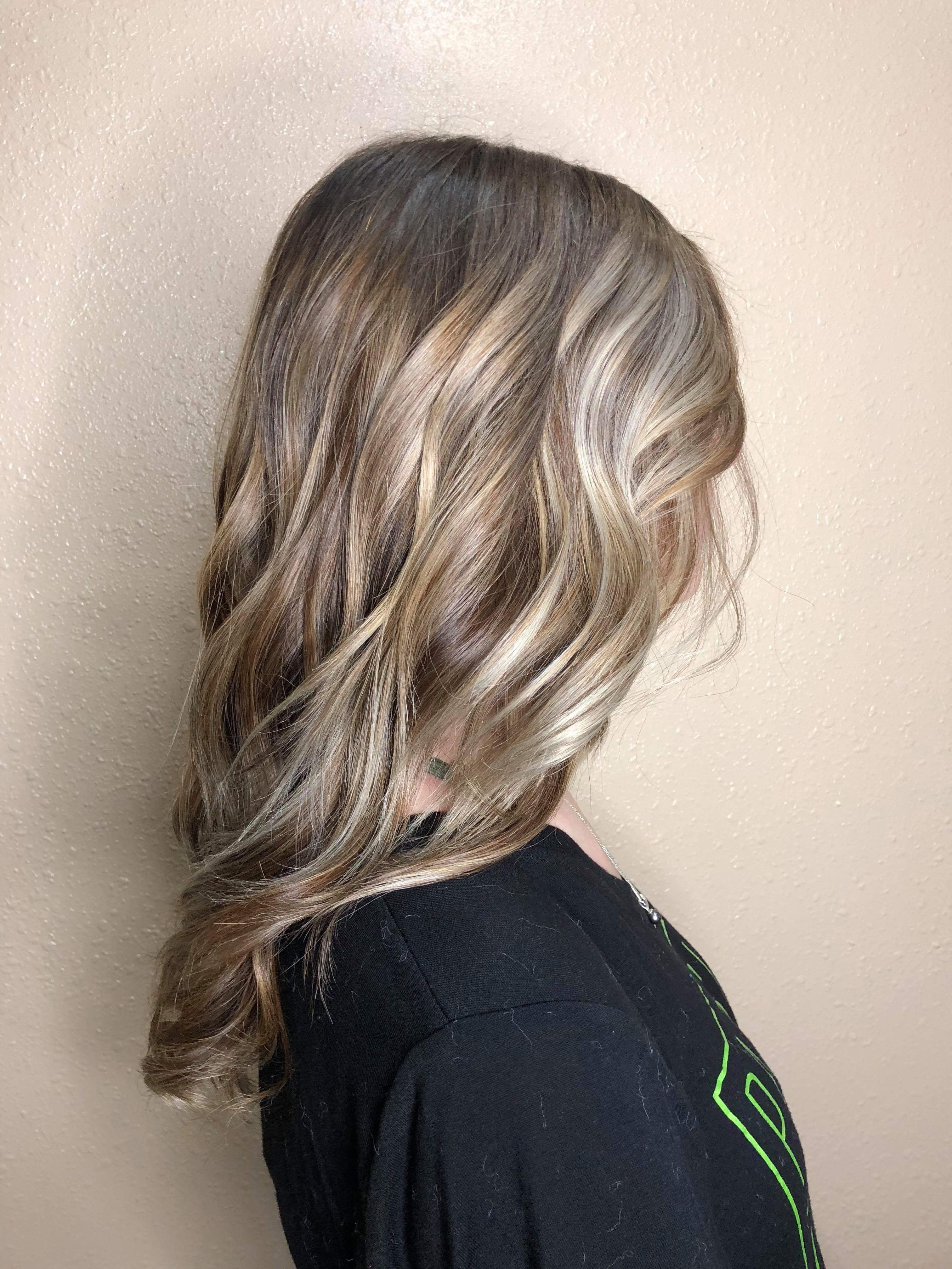 Blonde Balayage Toned Ash Brown With A Root Fade Blonde