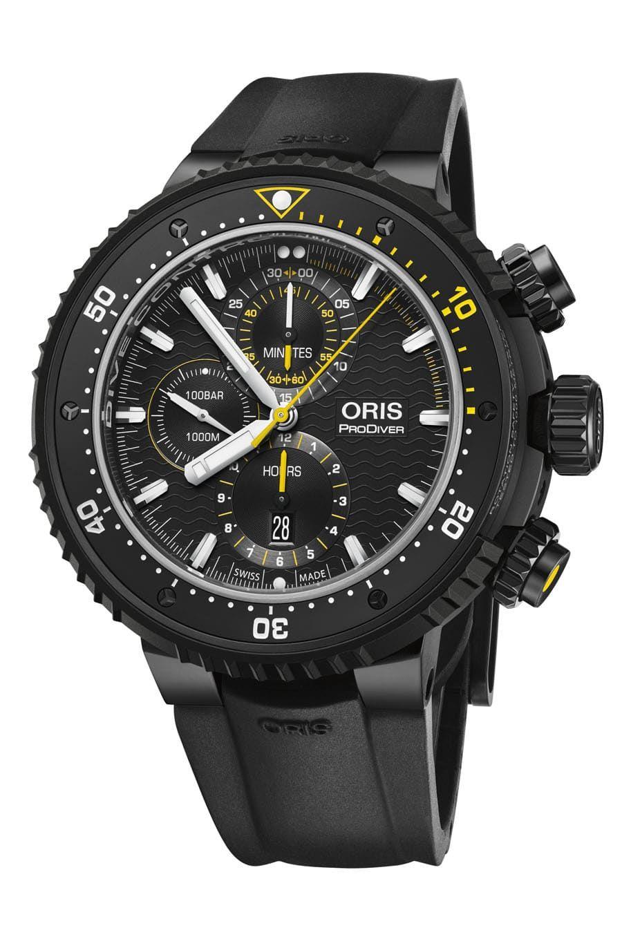 Oris Dive Control Limited Edition Mit Schwarzem Kautschukband Watchtime Net In 2020 Uhren Herren Oris Uhren Taucheruhr