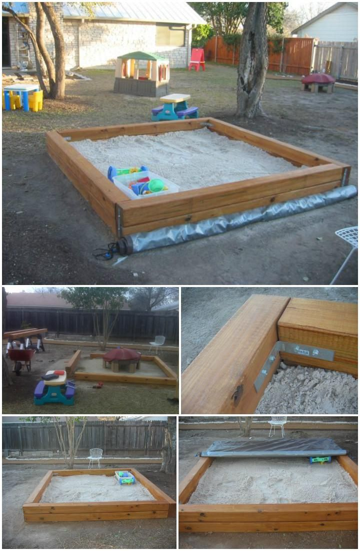 60+ DIY Sandbox Ideas and Projects for Kids | DIY Outdoor