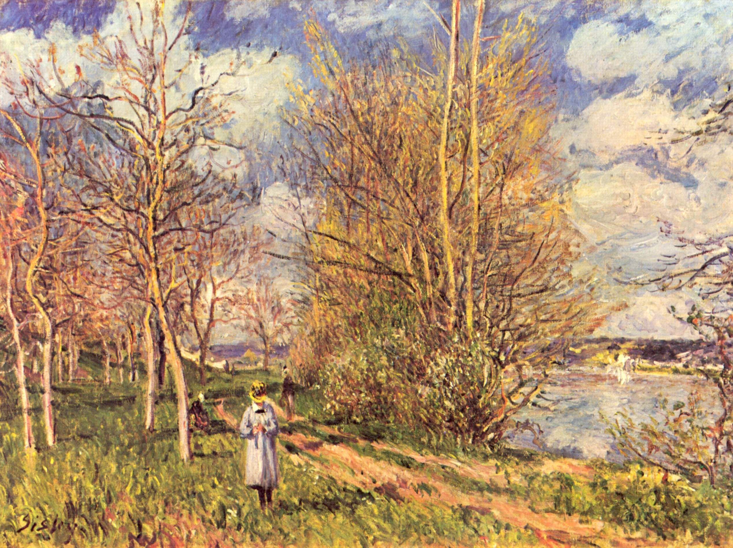 sisley paintings | Small Meadows in Spring - Alfred Sisley - WikiPaintings.org | Peintures ...