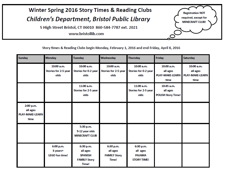 Pin by Bristol Public Library on Library Programs