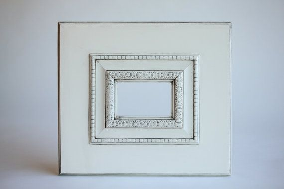 Extra Large Frame Thick 6 Border Decorative Picture Frame More Colors Available On Etsy 55 00 Picture Frame Decor Handmade Picture Frames Frame