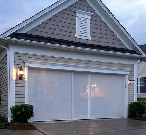Small garage door screen kit doors pinterest small for Garage door repair longmont co