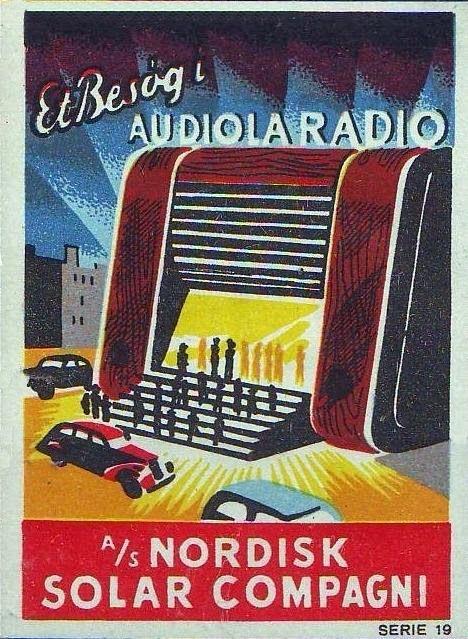 Audio Radio A S Nordisk Solar Compagni Plakater Illustration