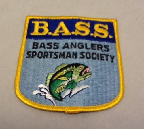 New BASS Bass Anglers Sportsman Society Embroidered Patch Fishing Fish Lake
