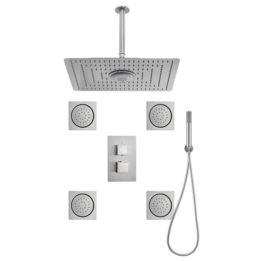 Shop Sheffield Home 16.7-in Brushed Nickel Showerheads with Hand ...