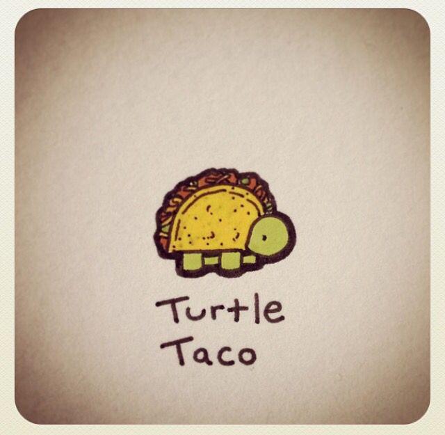 Turtle Taco Turtle Drawing