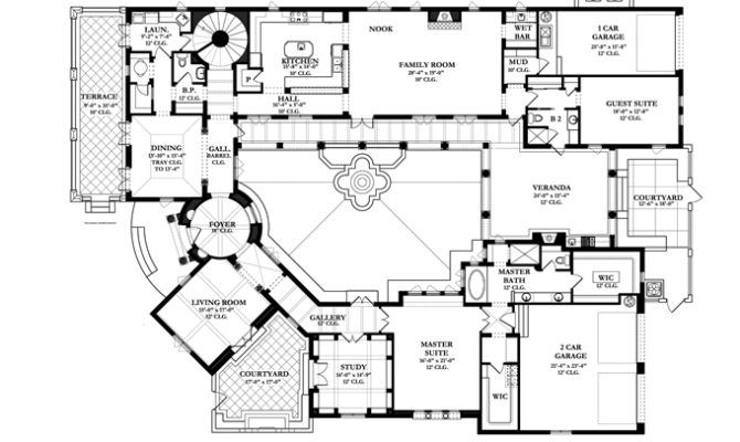 Colonial Floor Plans Ideas House Spanish Home Style Homes Dutch Courtyard House Plans Mediterranean Style House Plans Spanish Style Homes