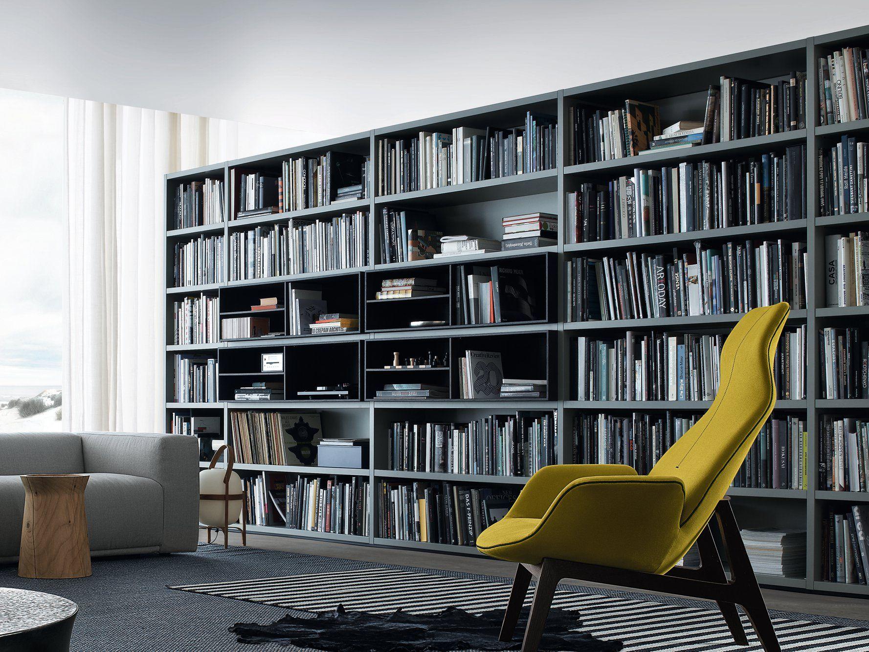 Librería composable de madera WALL SYSTEM Colección Wall System by ...