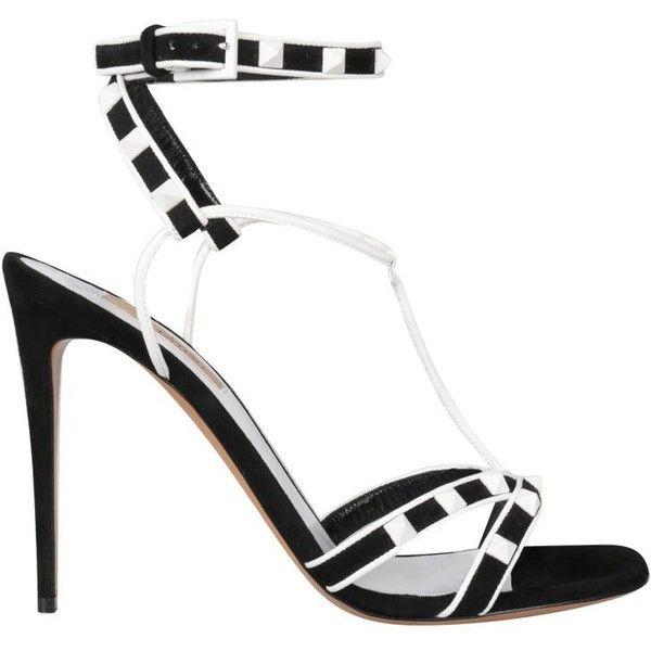 54e3984a02c Valentino Garavani Free Rockstud suede sandal (2.985 BRL) ❤ liked ...