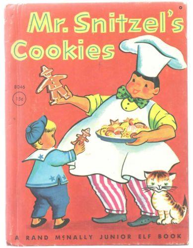 Vintage-Childrens-Junior-Elf-Book-MR-SNITZELS-COOKIES-Jane-Flory