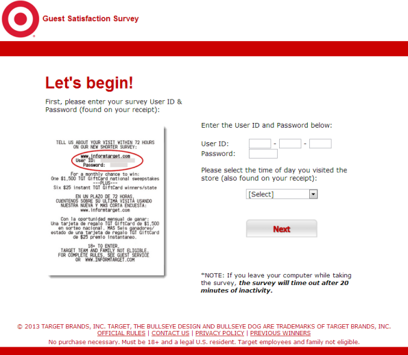 Target Guest Satisfaction Survey WwwInformtargetCom  Customer
