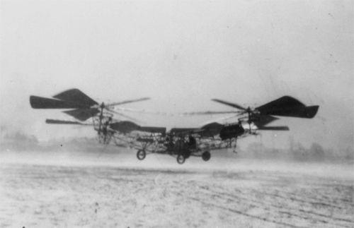 "The Jerome-de Bothezat quad-rotor or ""Flying Octopus"", circa 1922"