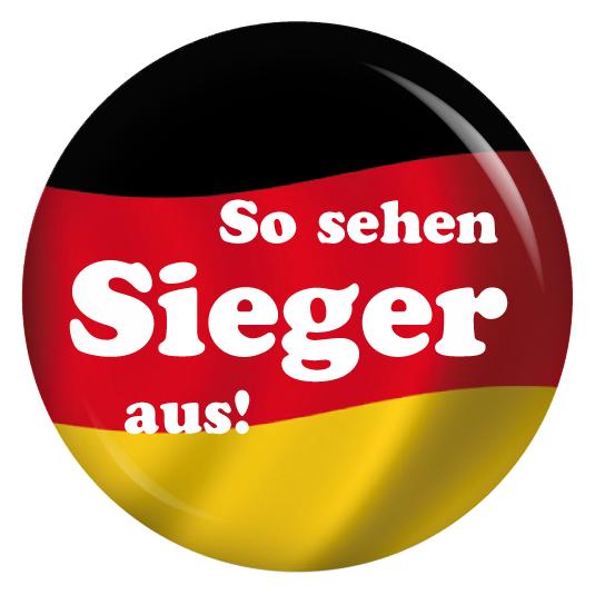 Button So Sehen Sieger Aus Deutschlandfahne Smileys