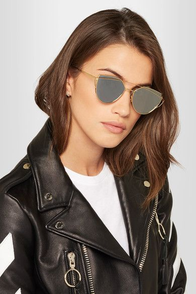 728eb427d Gentle Monster | Love Punch aviator-style gold-tone sunglasses |  NET-A-PORTER.COM