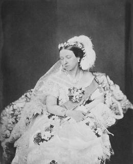 Queen Victoria (1819-1901) in her Drawing Room Dress