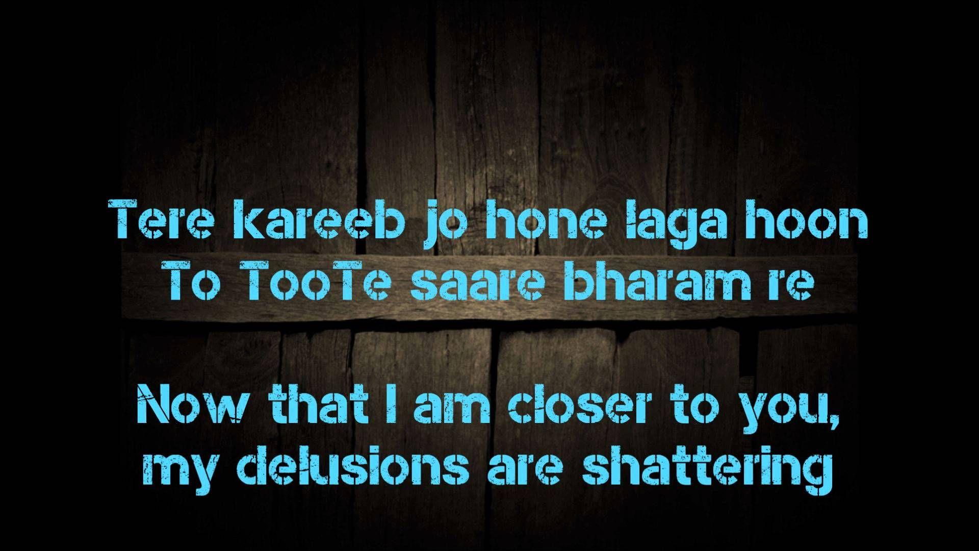 Sanam Re Lyric Translation Songs Love Pinterest Lyrics Songs