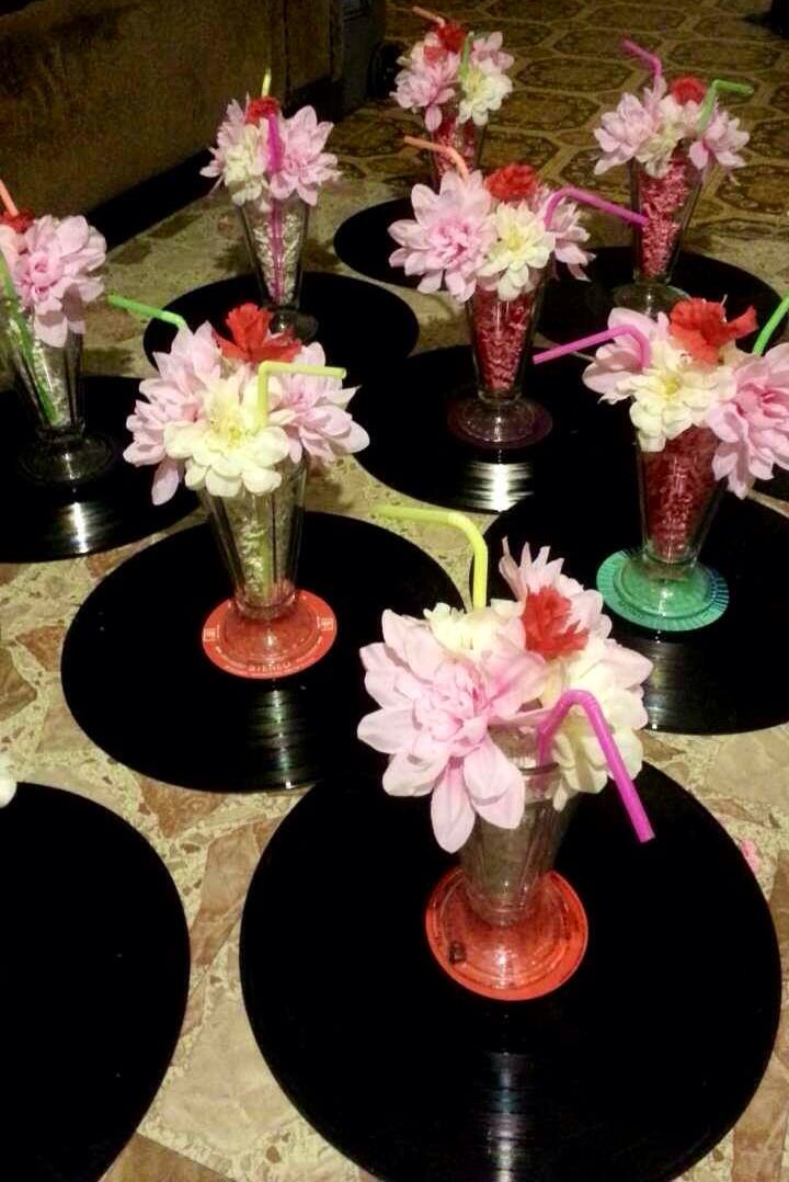 Easy Diy 50s Themed Centerpieces My Diy Cheap Party