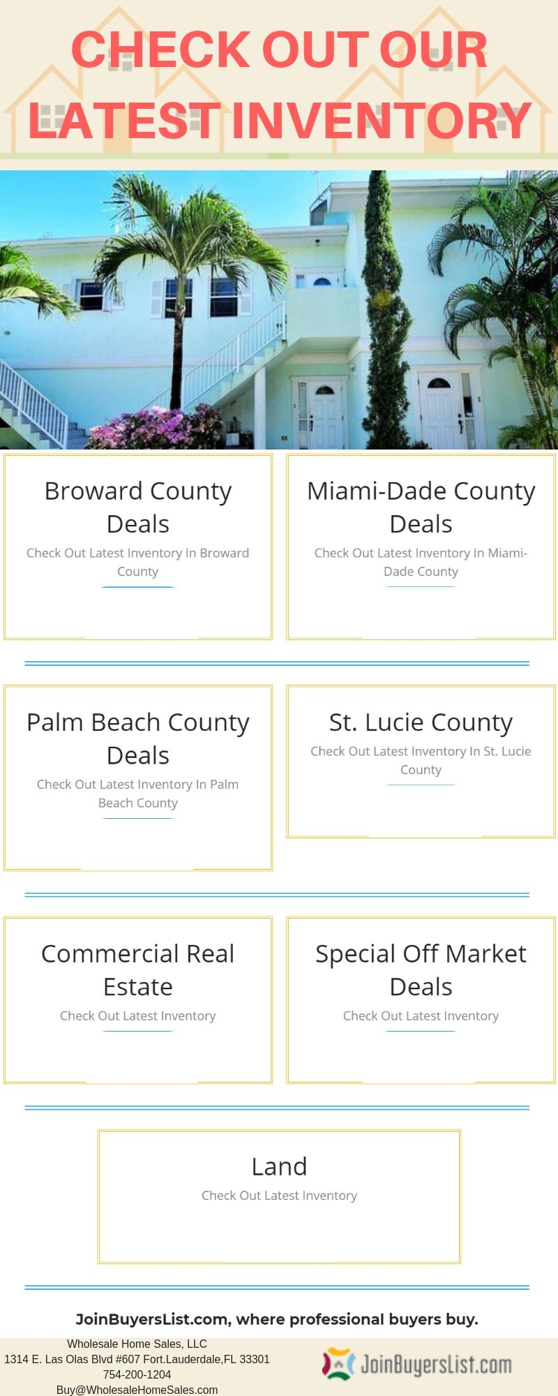 Check Out Our Latest Inventory Joinbuyerslist Com Miami