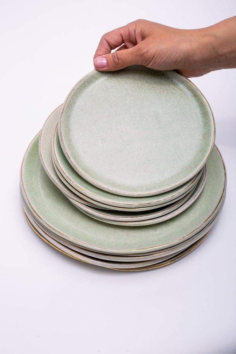 Modern cake plate.Gray and black.unique plate,dessert plate,decorative plate,ceramic side plate,unique serving plate,tableware,housewarming