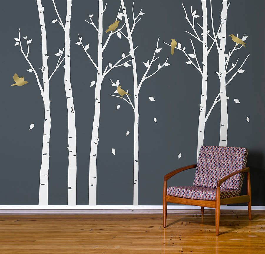 urban forest white wall stickers   not on the high street