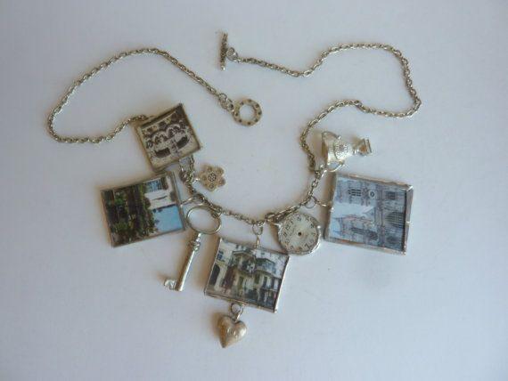 I LOVE LONDON Handmade Soldered Charm Necklace