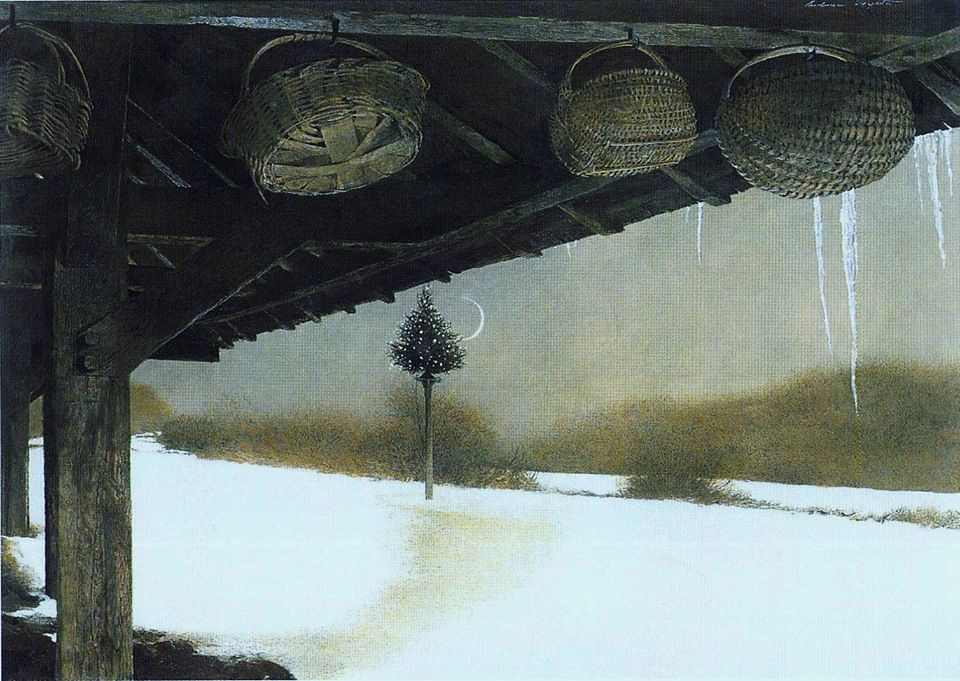 Andrew Wyeth. CRESCENT | Иллюстрации, Картинки, Дерево