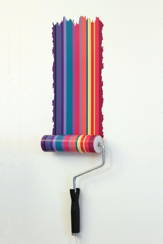 #Creative, #originali e #divertenti: sono le #paint #roller #wall #lamps dell'artista-#designer #inglese #Natalie #Sampson