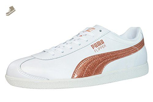 8a9300a5a47e88 Puma Flipper Glitter Womens Leather sneakers / Shoes - White - SIZE US 9 - Puma  sneakers for women (*Amazon Partner-Link)