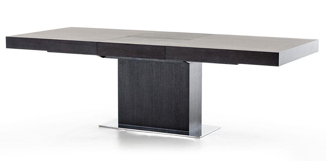 Modani Palerma Extendable Modern Dining Table Black Oak 1290