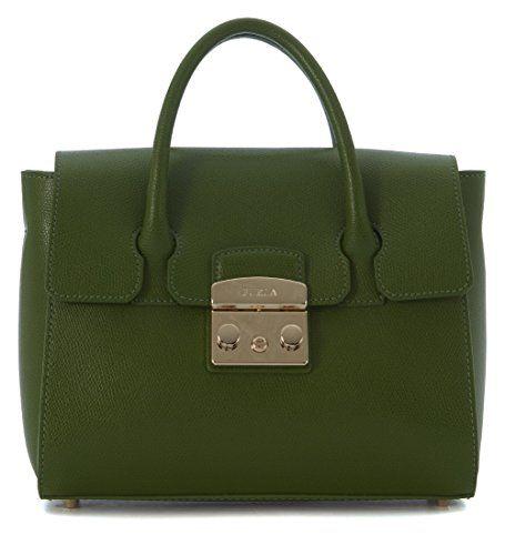 retail prices fashion styles low cost Furla Women's Furla Metropolis Olive Green Leather Handbag ...