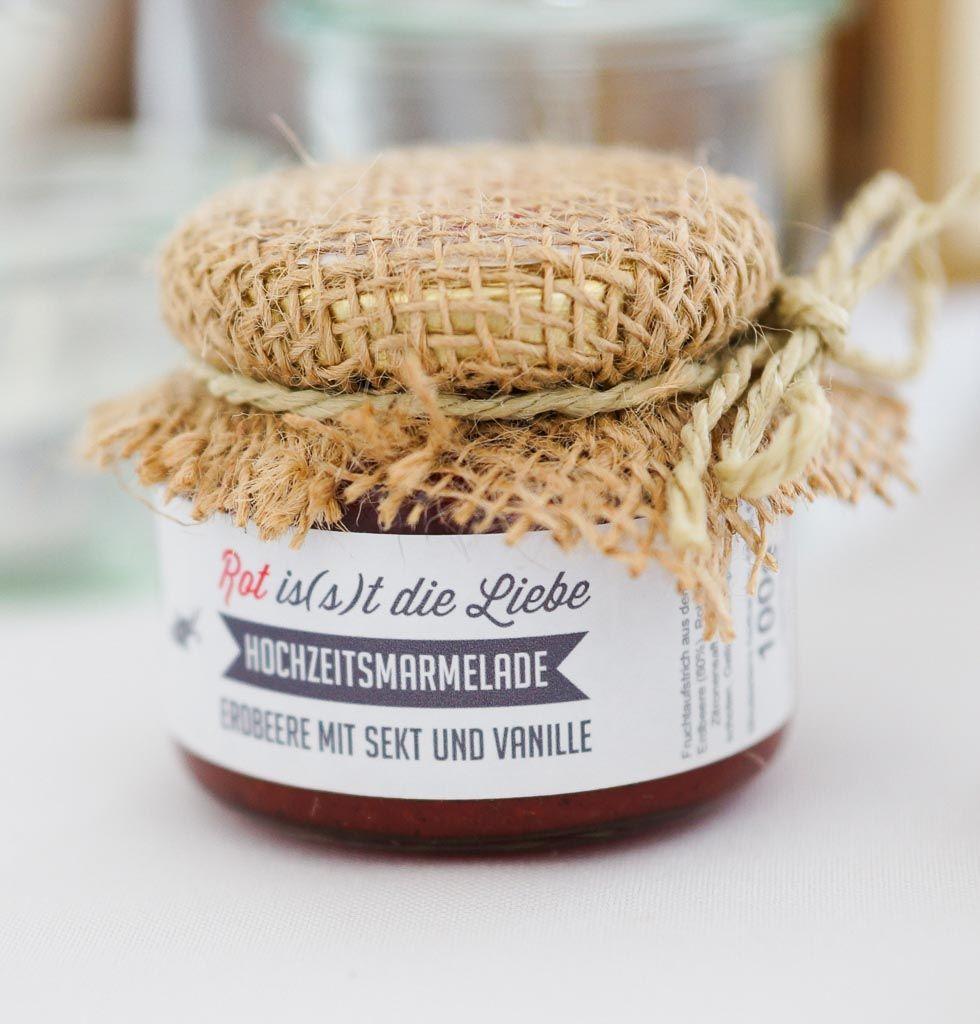 Gastgeschenke zur hochzeit eine tolle idee f r gastegeschenke sind die marmeladen von - Silberhochzeit planen ...