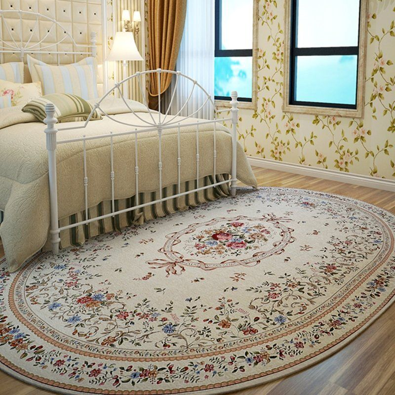 American Pastoral Oval Rugs And Carpets For Home Living Room
