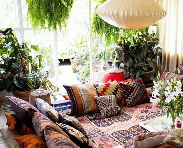 Arredamento Bohemien ~ Decorare il soggiorno con le piante! ecco 20 idee a cui ispirarsi