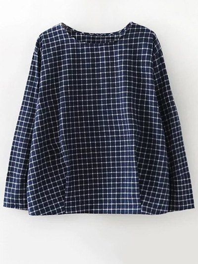 GET $50 NOW | Join Zaful: Get YOUR $50 NOW!http://m.zaful.com/plaid-letter-embroidered-blouse-p_245488.html?seid=1688628zf245488
