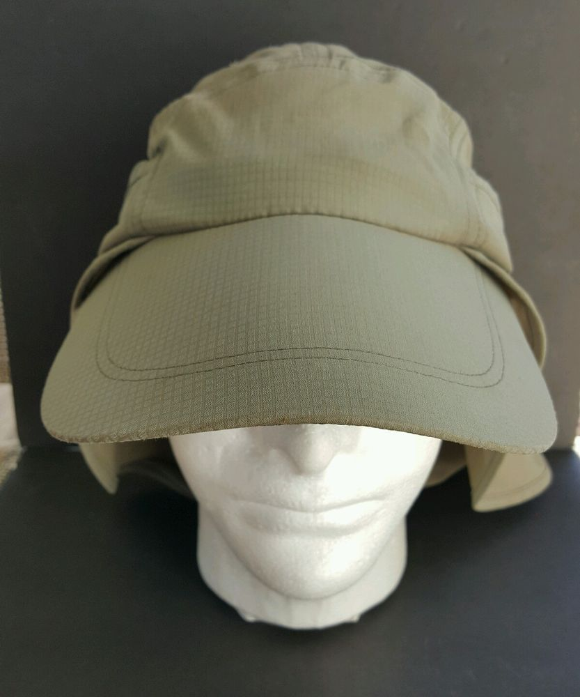 Columbia Pfg Omni-Shade Khaki Fishing Hunting Golf Hat Cap Neck Flap  Adjustable… 4ffbd4cc2cc