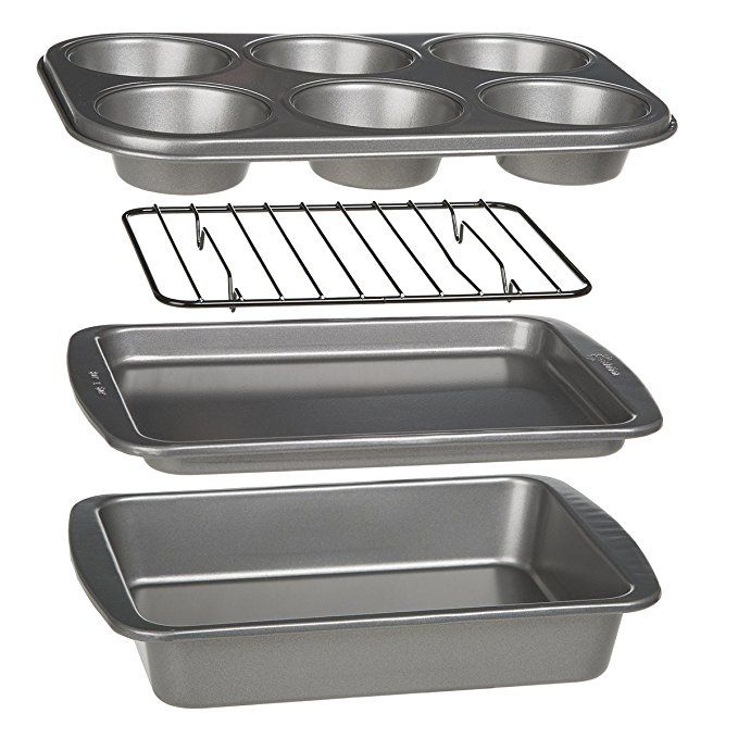 Ecolution Toaster Oven Bakeware 4 Piece Set Nonstick