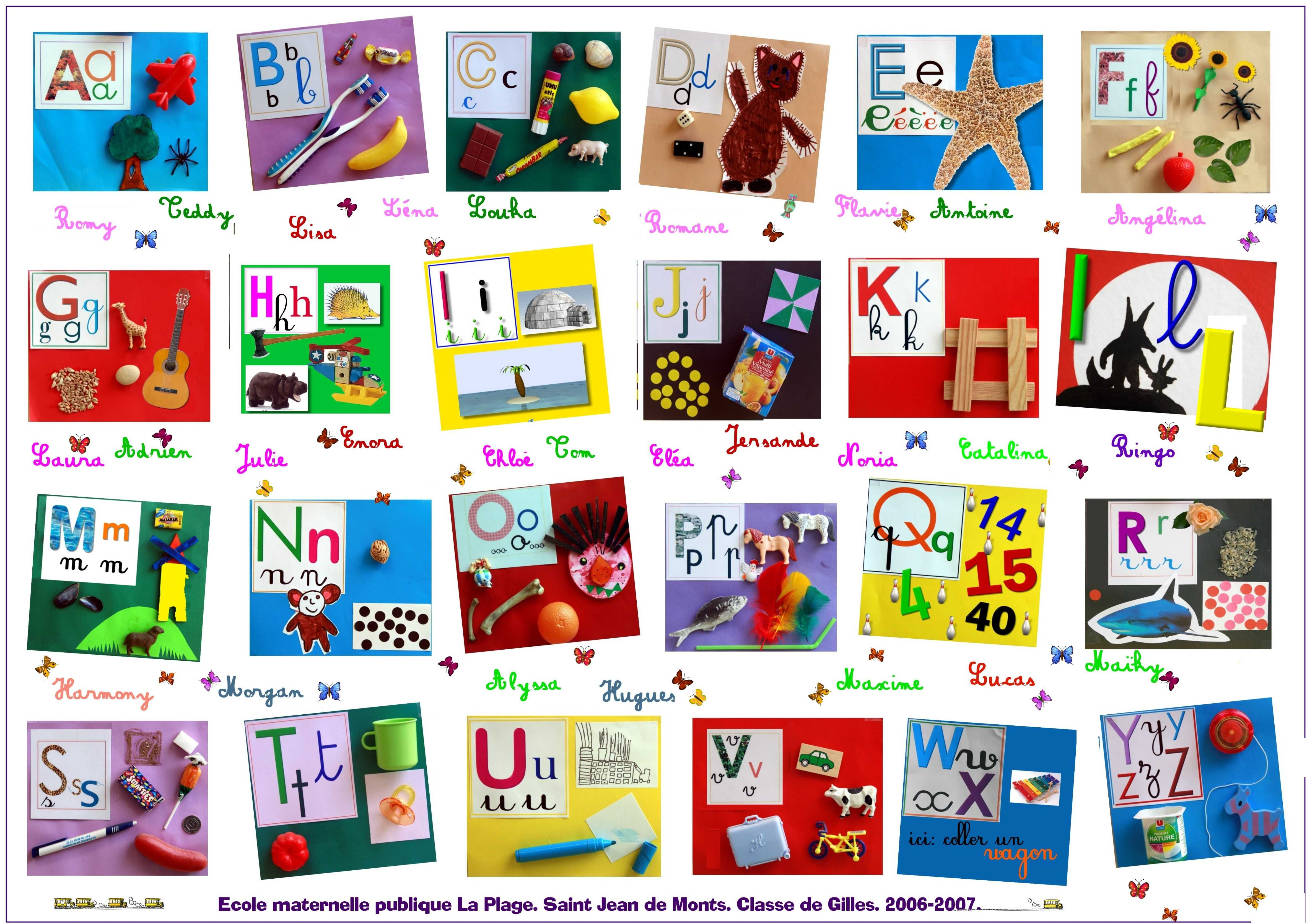 Collaged Alphabet In French Which Is Why The Images Don T Match The Sound Lettre A Alphabet Lettres Alphabet